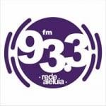 Logo da emissora Rádio Rede aleluia 93.3 FM