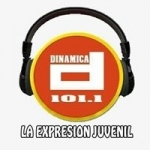 Logo da emissora Radio Dinamica 101.1 FM