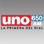Logo da emissora Radio Uno 650 AM