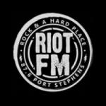 Logo da emissora Radio Riot 87.6 FM