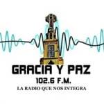 Logo da emissora Radio Gracia y Paz 102.6 FM