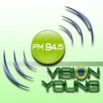Logo da emissora Radio Vision Young 94.5 FM