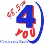 Logo da emissora Radio 4You 98.5 FM