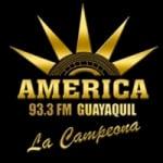 Logo da emissora Radio America 93.3 FM