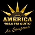 Logo da emissora Radio America 104.5 FM