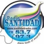 Logo da emissora Radio Santidad 97.3 FM