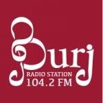 Logo da emissora Radio Burj 104.2 FM