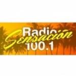 Logo da emissora Radio Sensacion 100.1 FM