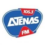 Logo da emissora Rádio Atenas 105.3 FM
