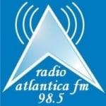 Logo da emissora Rádio Atlântica 98.5 FM