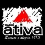 Logo da emissora Rádio Ativa 107.3 FM