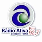 Logo da emissora Rádio Ativa 92.7 FM
