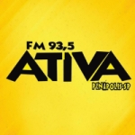 Logo da emissora Rádio Ativa 93.5 FM