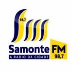 Logo da emissora Rádio Samonte 98.7 FM