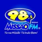 Logo da emissora Rádio Missão 98.5 FM