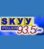 Logo da emissora Radio Skyy Power 93.5 FM