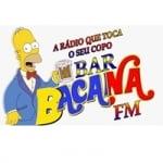Logo da emissora Rádio Bacanas Bar FM