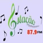 Logo da emissora Rádio Estação Pinheirinho FM 87.9